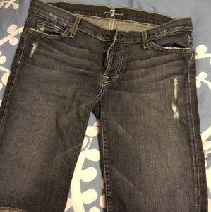7 For All Mankind Bermuda jean shorts